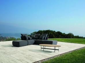 Canapé modulable Begin pour terrasses et jardins.