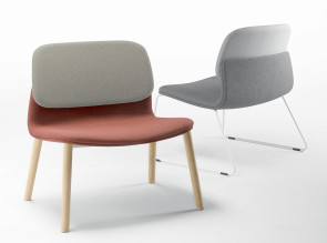Fauteuil Lounge Klik, pieds bois ou métal