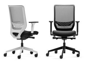 Siège de travail To-Sync, dossier haut résille avec soutien lombaire, blanc ou noir