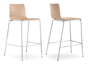 Tabouret empilable Inga 5616, assise bois