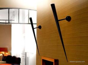 Applique murale Trylon métal noir