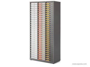 Armoire multi tiroirs, version 3 colonnes, avec 90 tiroirs H.6cm