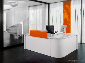 Banque d'accueil Highline orange