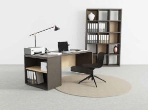 Bureau Home Office Atlante sur rangement porteur (en option)