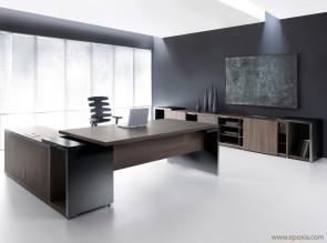 Bureau direction moderne Mito, bureau avec desserte porteuse