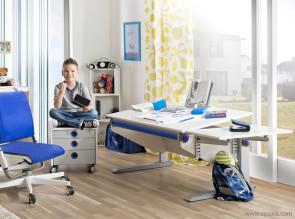 Bureau évolutif Winner pour enfant, avec extension et grand tiroir (en option)