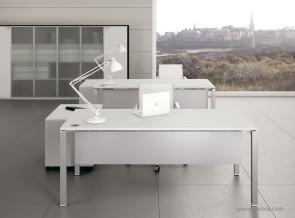 Bureau collection Alma blanc avec voile de fond