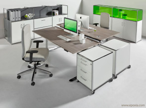 Bureau opérateur bench réglable en hauteur, motorisé M2