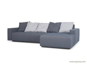 Canapé Combo avec coussins gris
