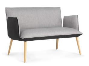 Canapé  lounge 2 places Soft tissu bicolore