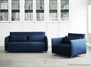 Canapé et fauteuil convertibles Cord