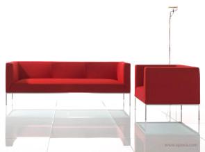 Canapé et fauteuil d'accueil On / Off tissu