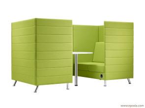 Canapés pour espace de réunion en Openspace avec revêtement capitonné