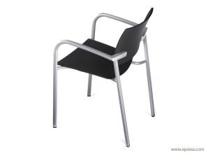 Chaise de conférence Bio, empilable avec accoudoirs