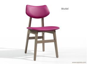 Chaise en bois pour collectivité Muriel