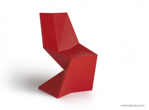 Chaise outdoor Vertex rouge