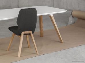 Chaise de réunion pieds chêne Oblique