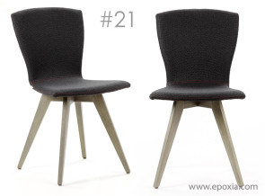 Chaise de réunion Moods  #21 tissu avec couture