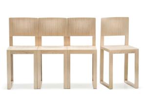 Chaises en bois Brera, finition chêne blanchi