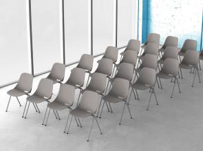 Chaises de conférence Bakea empilables