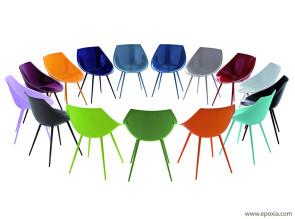 Chaises Lago en polyuréthane coloré par Philippe Starck