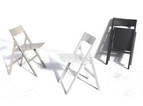 Chaise Quartz pliante indoor ou outdoor, en polypropylène noir, blanc ou écru fabriquée par Vondom