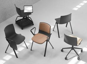 Collection de chaises Odei, coque en polypropylène