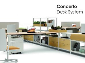 Système de rangement modulable Concerto Desk System pour bureau individuel