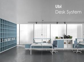 Configuration d'ameublement Ubi Desk System pour bench 2 postes