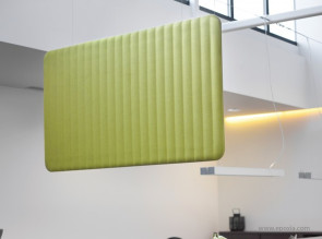 Elément suspendu horizontal 3D, BuzziLoose, solution acoustique