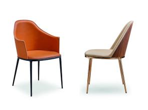 Chaise et fauteuil Lea