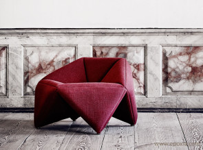 Fauteuil Fold tissu rouge
