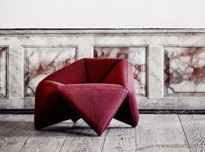 Fauteuil Fold tissu rouge