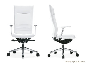Fauteuils de direction King blanc