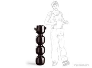 Pot design Max noir laque