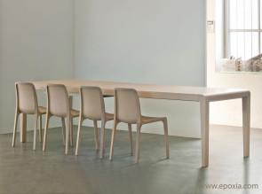 Table extensible Exteso chêne blanchi