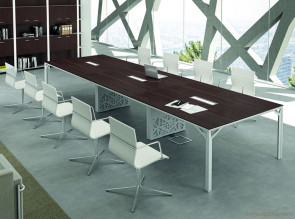 Grande table de réunion wengé X8