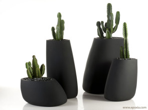 Grands pots design Stone