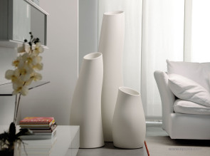 Grands pots Madame polypro blanc mat
