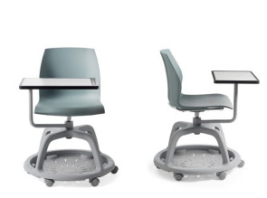 Chaise de formation Kalea Tablet, coque en polypropylène