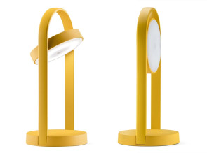 Lampe sur table Giravolta jaune