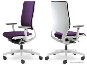 Mer fauteuil de travail avec dossier coque blanche