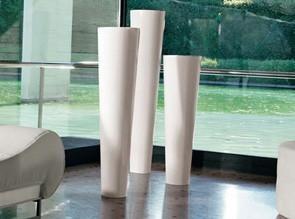 Pots design Narnya laqués blanc