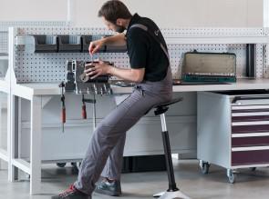 Siège d'atelier Ongo Stand réglable en hauteur