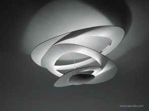Plafonnier en aluminium blanc Pirce