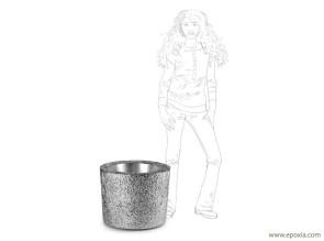 Pot chrome usage intérieur