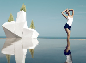 Trio de pot outdoor Faz XL par Vondom. OUtdoor ou indoor selon les finitions.
