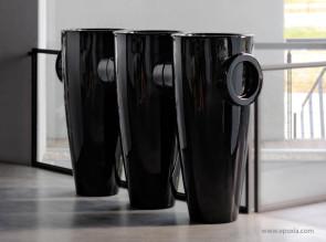 Grands pots Humprey noir laqué