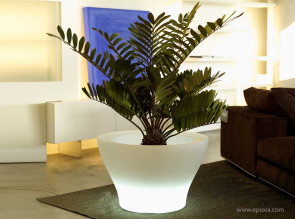Grand pot lumineux Centro Alto Llum blanc