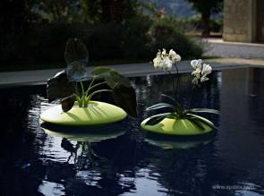 Pot flottant intérieur ou extérieur Ninfea